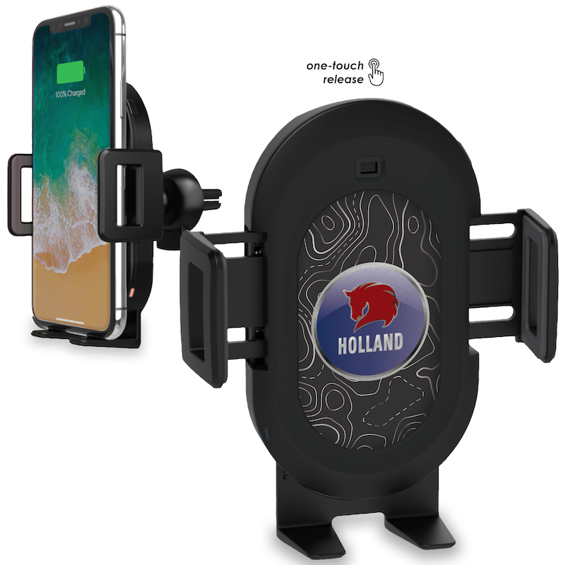 Smart Charge Wireless Charging Car Mount with Hands-free Phone Grip