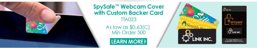 SpySafe Webcam Cover with Custom Backer Card