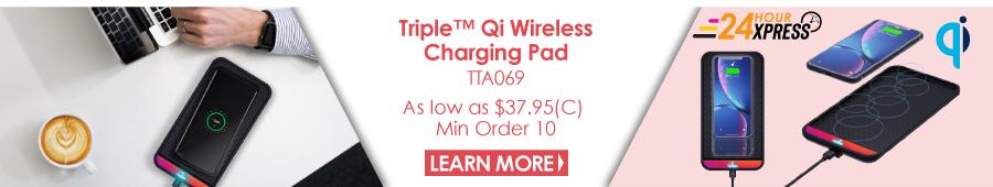 Triple Qi Wireless Charging Pad