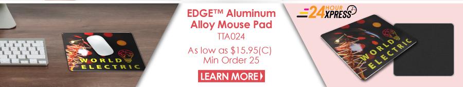 EDGE Aluminum Alloy Mouse Pad