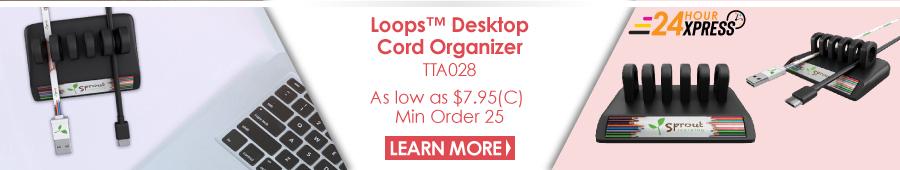 Loops Desktop Cord Organizer
