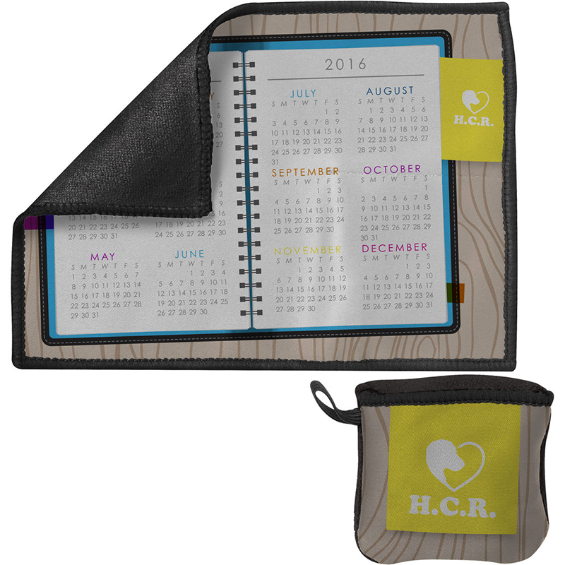 Pocket Toddy On-the-Go Premium Microfiber Cleaning Cloth and Calendar
