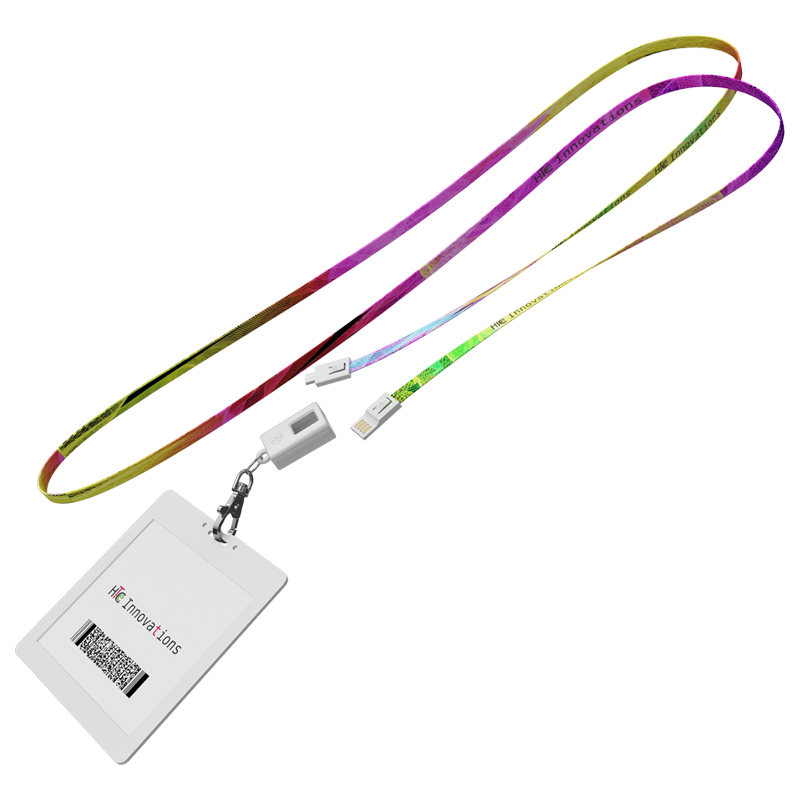 Micro-USB to USB Charge and Sync Lanyard