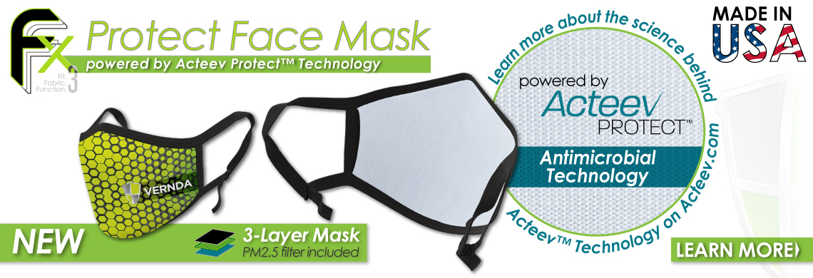 Fx3 Protect Mask Powered by Acteev Protect Antimicrobrial Technology
